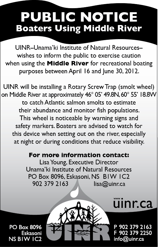 PUBLIC NOTICE: Boaters Using Middle River