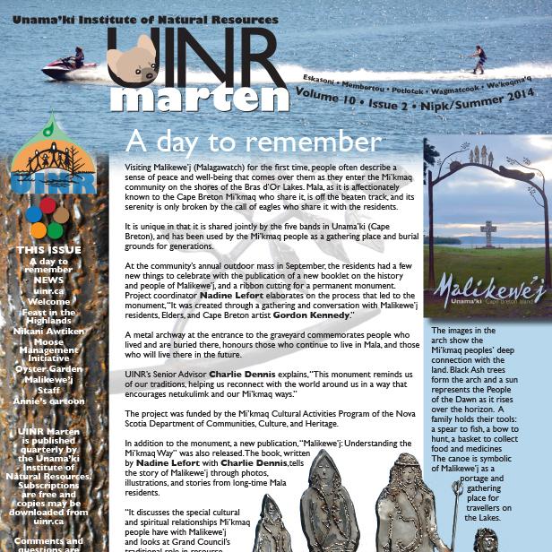 UINR Marten – Summer 2014