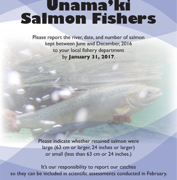 Attention Unama'ki Salmon Fishers